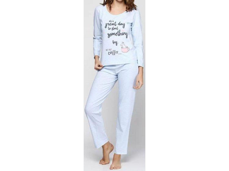Купить Пижама женская с брюками EGO. PSP 04 Голубого цвета — лучшая ... 889ef01a494d7