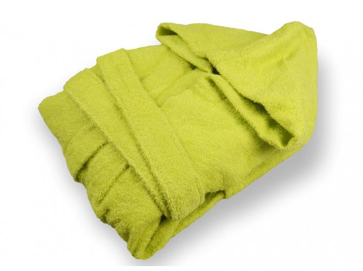 Халат детский махровый Home Line. Зеленый с капюшоном