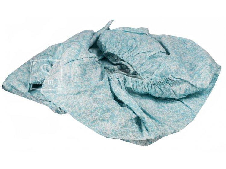 Подростковое постельное белье TAC. Ranforce Route V04 Mavi простынь