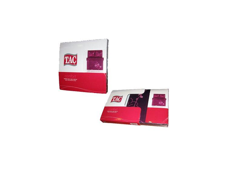 Постельное белье TAC. Deluxe Grisel V01 лилового цвета  упаковка