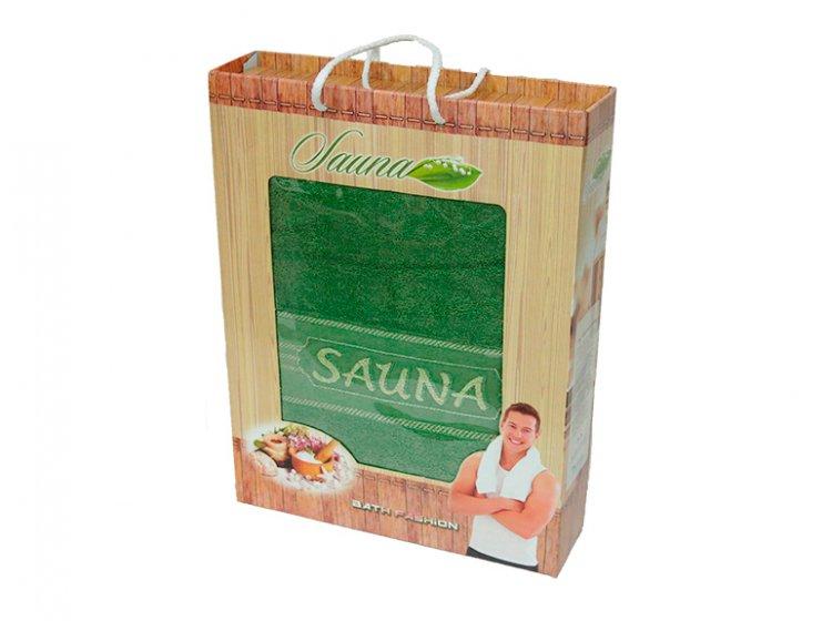Махровое полотенце Gulcan. Sauna towel green, размер 100х170 см упаковка