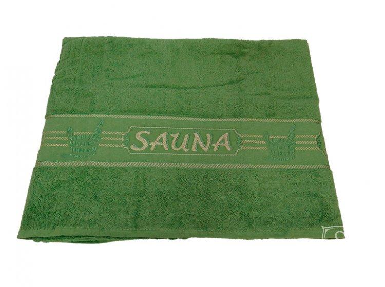 Махровое полотенце Gulcan. Sauna towel green, размер 100х170 см