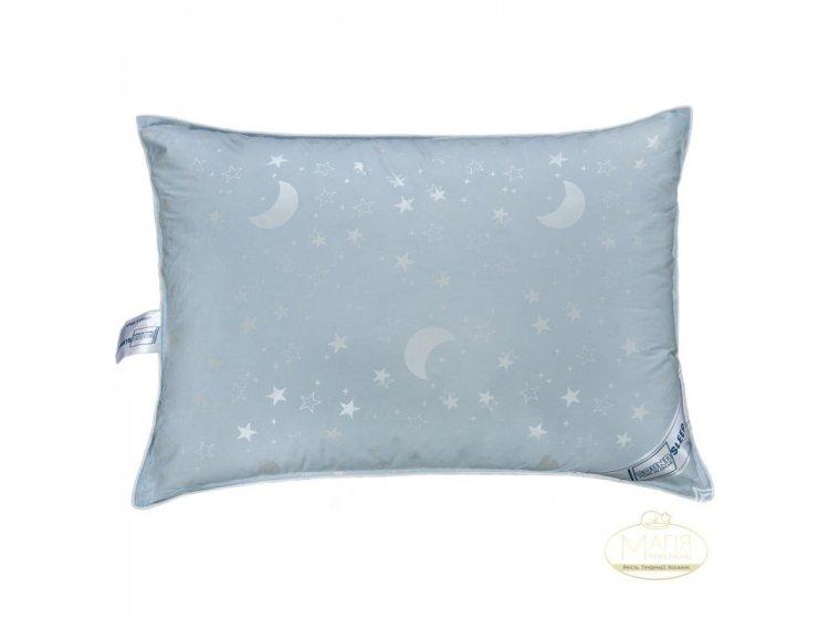Подушка 10% пуха SoundSleep. Sleep and Go голубая 50х70 см