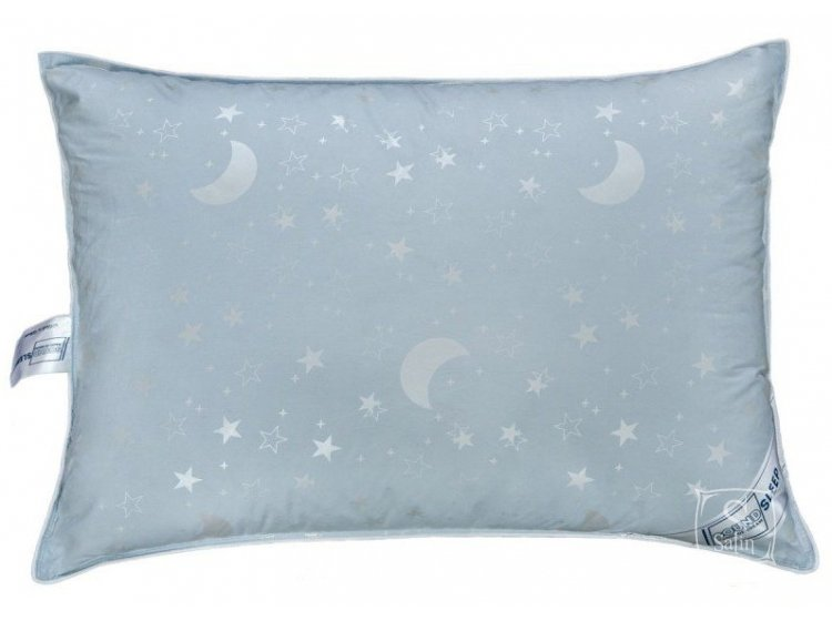 Подушка 90% пуха SoundSleep. Meditation голубая 50х70 см