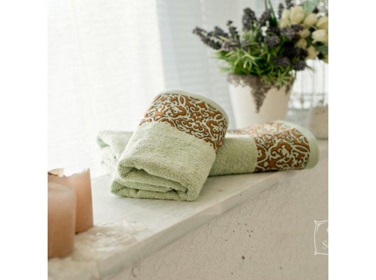 Бамбуковое полотенце SoundSleep. Sofia фисташковое