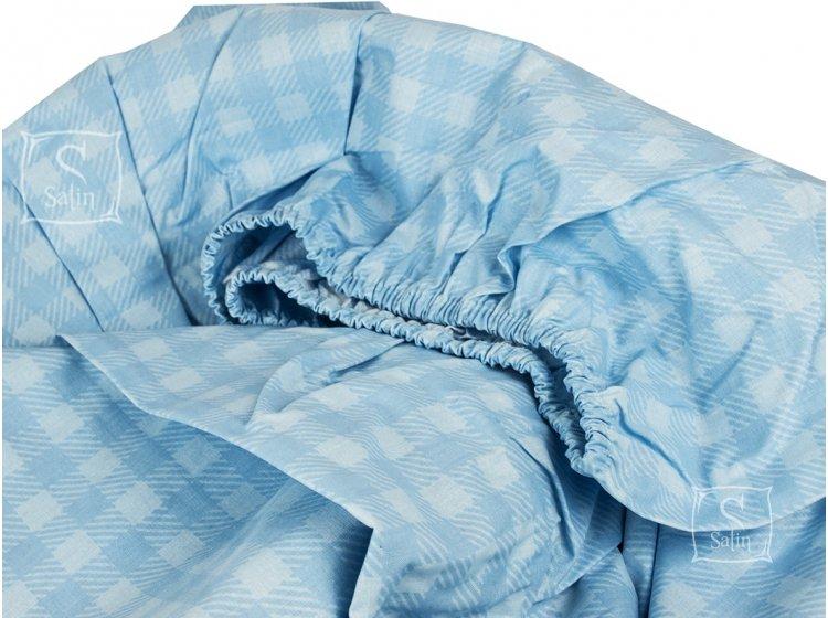 Подростковое постельное белье TAC. Ranforce Route V04 Mavi простынь на резинке