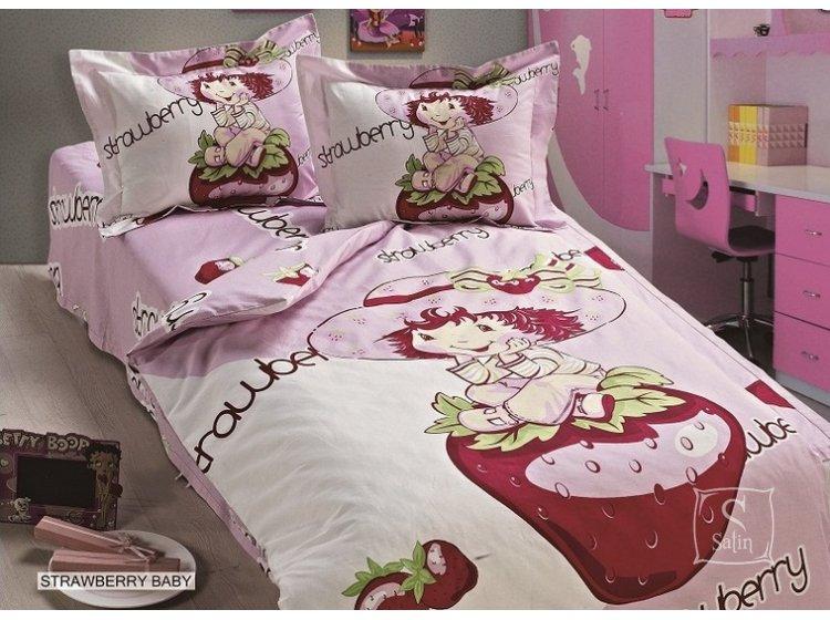 Постельное белье в детскую кроватку Arya. Strawberry Baby