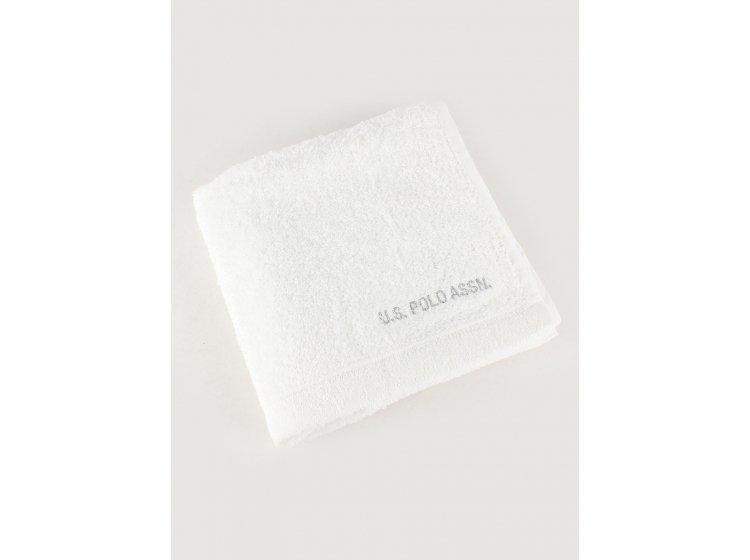 Махровое полотенце U.S.Polo Assn. Taos beyaz, размер 50х90 см
