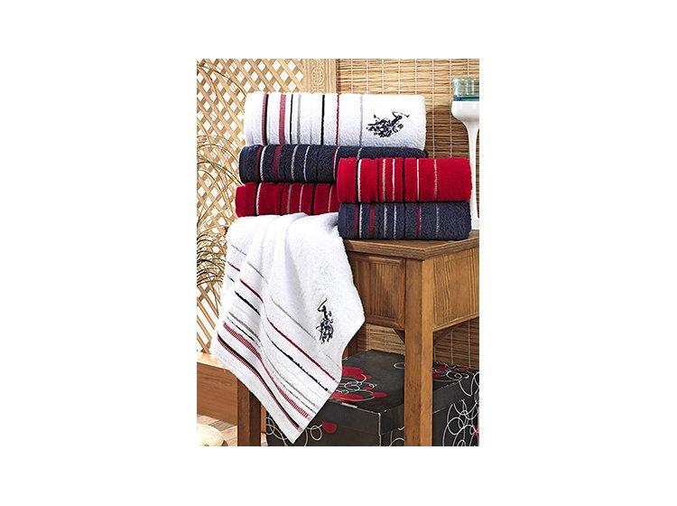 Набор махровых полотенец U.S.Polo Assn. Tempe beyaz, 2 предмета