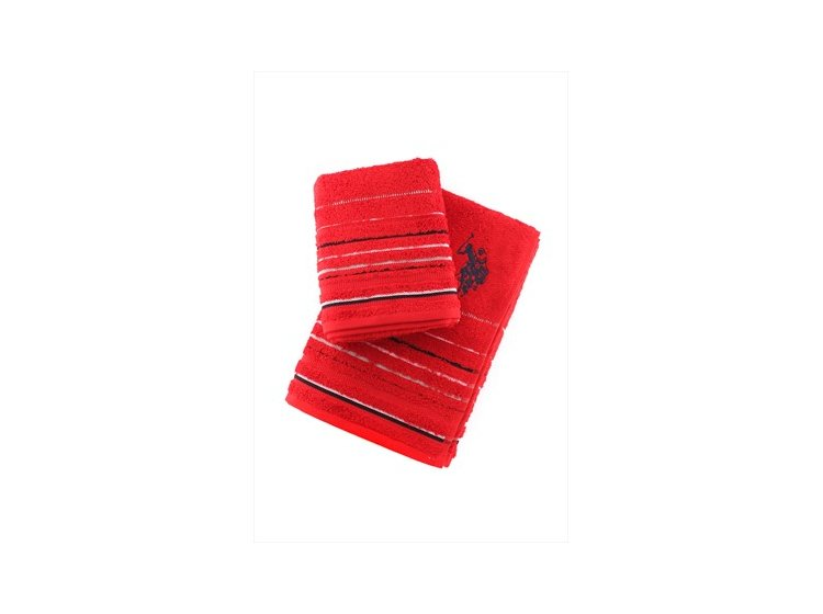 Набор махровых полотенец U.S.Polo Assn. Tempe kirmizi, 2 предмета