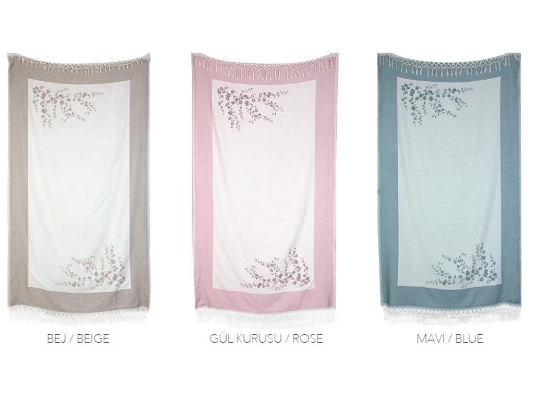 Бамбуковое полотенце Buldans. Tomurchuk buz mavi, 100х180 см