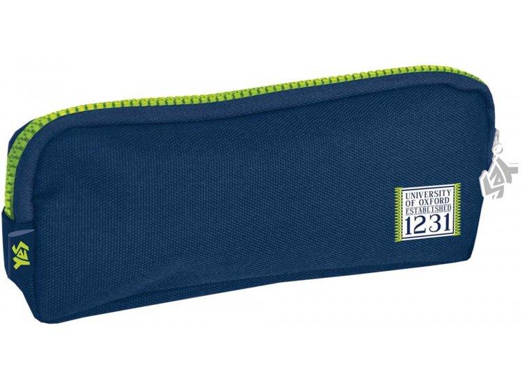 Пенал мягкий 1 Вересня YES, синий, 19*7*3 см