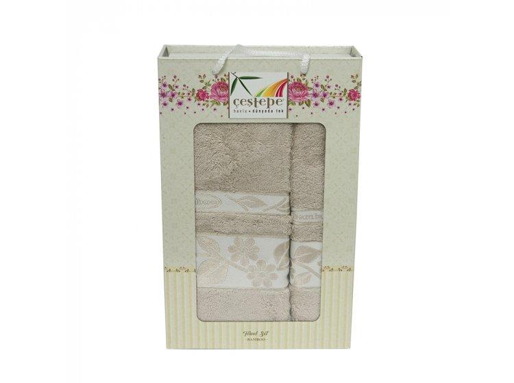 Набор махровых полотенец Cestepe. Bamboo бежевый