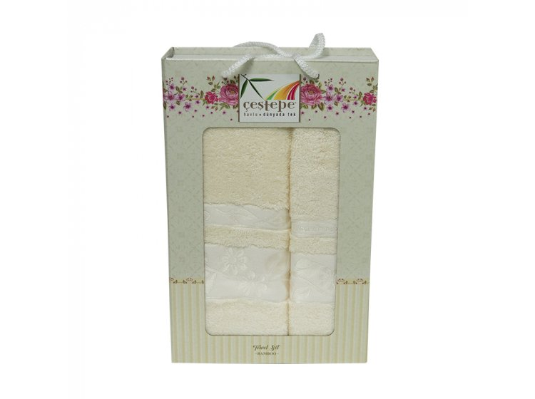 Набор махровых полотенец Cestepe. Bamboo кремовый