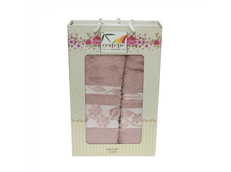 Набор махровых полотенец Cestepe. Bamboo темно-розовый