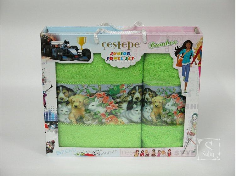 Набор махровых полотенец Cestepe. Bamboo Junior Зверята