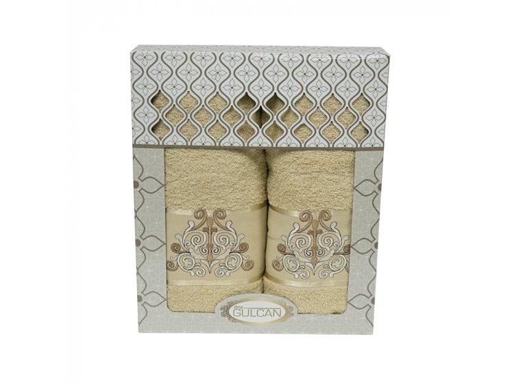 Набор махровых полотенец Gulcan. Cotton Venz бежевый