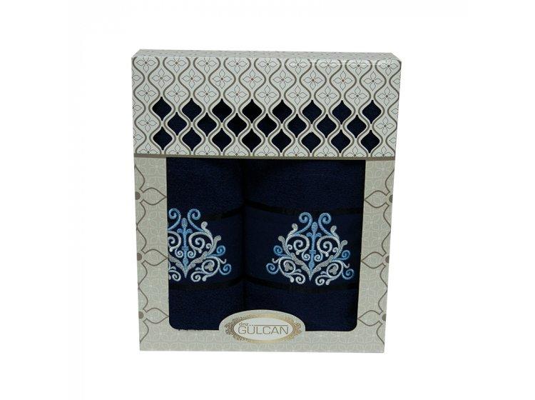 Набор махровых полотенец Gulcan. Cotton Venz синий