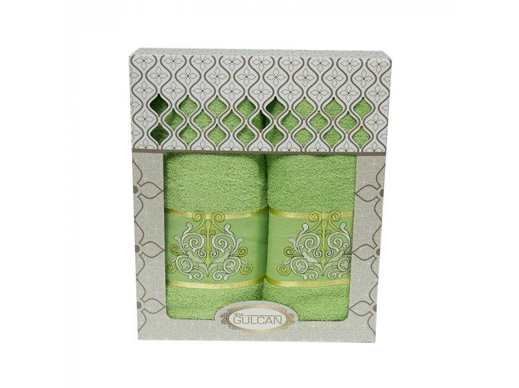 Набор махровых полотенец Gulcan. Cotton Venz зеленый