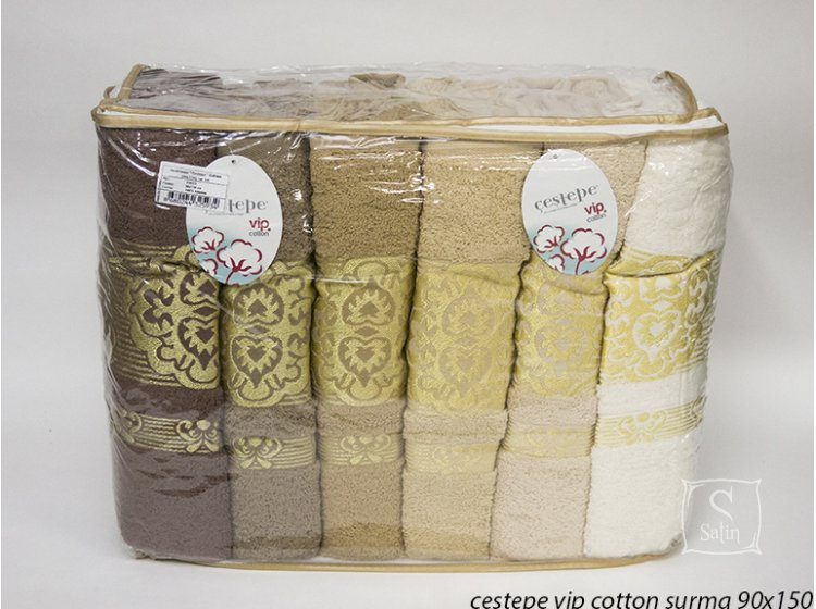 Набор полотенец Cestepe. Vip Cotton Surma 90х150 см