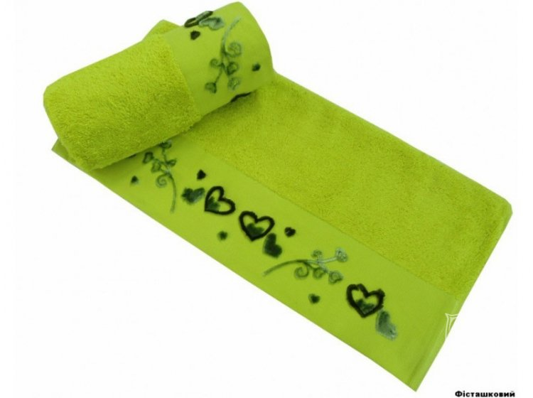 Полотенце махровое Altinbasak. Romantica фисташкового цвета