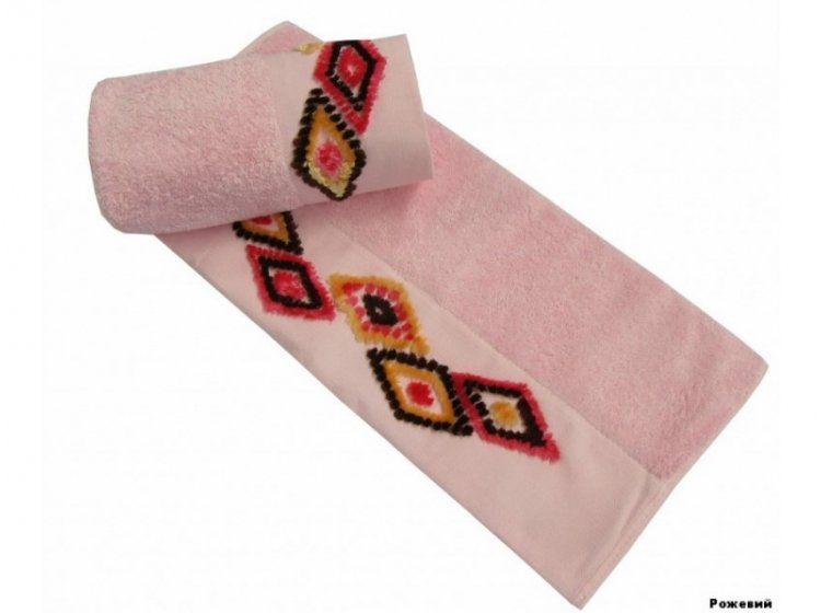 Полотенце махровое Altinbasak. Tendora розового цвета