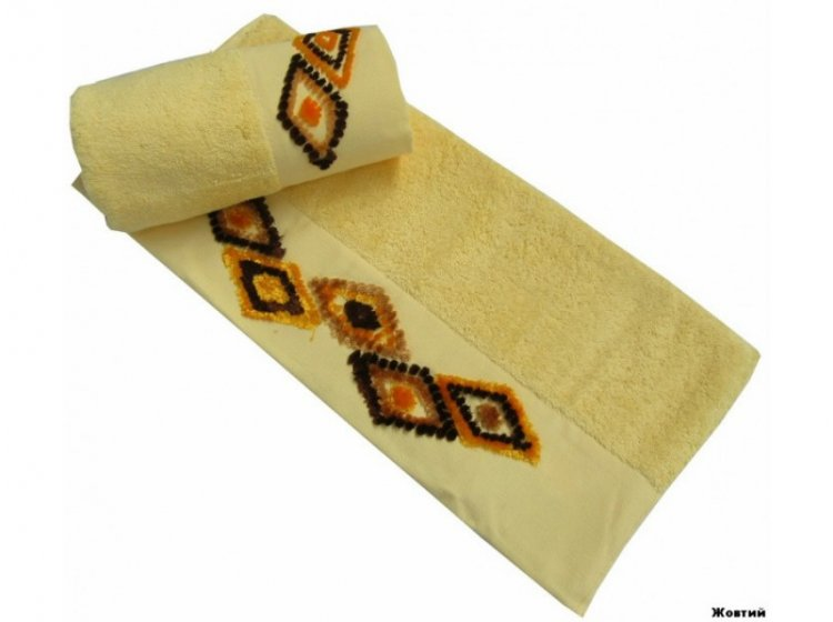 Полотенце махровое Altinbasak. Tendora желтого цвета