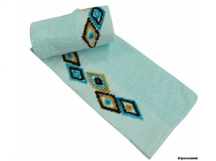 Полотенце махровое Altinbasak. Tendora бирюзовый цвета