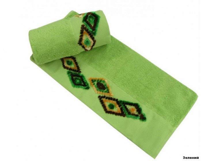 Полотенце махровое Altinbasak. Tendora зеленого цвета