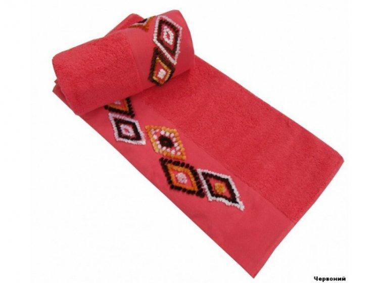 Полотенце махровое Altinbasak. Tendora красного цвета