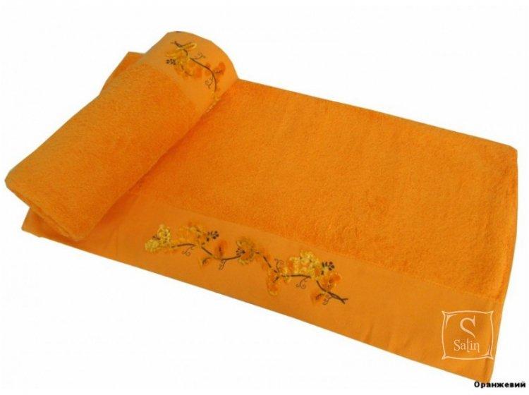 Полотенце махровое Altinbasak. Elara оранжевого цвета