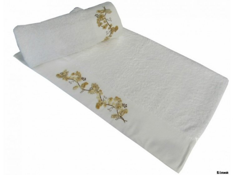 Полотенце махровое Altinbasak. Elara белого цвета