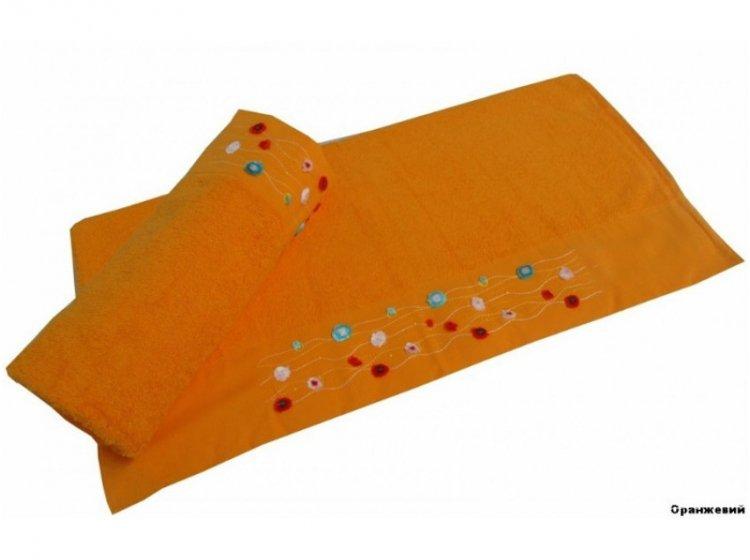 Полотенце махровое Altinbasak. Emma оранжевого цвета
