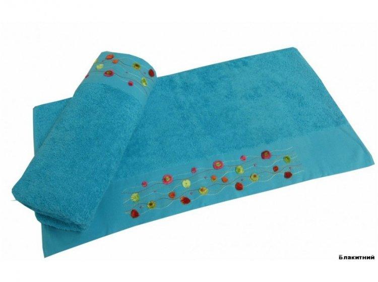 Полотенце махровое Altinbasak. Emma голубого цвета