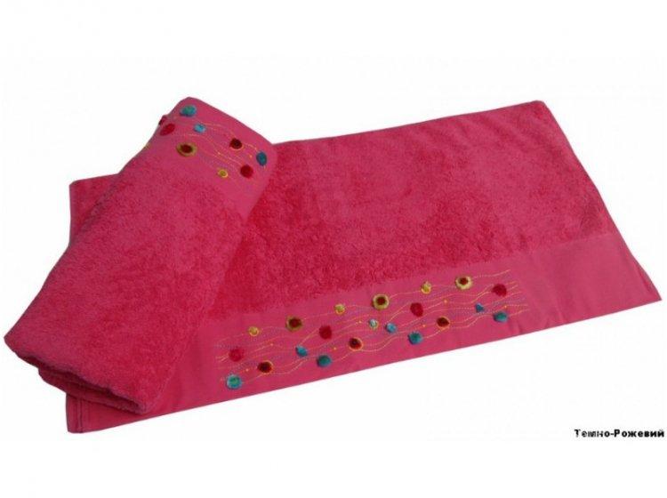 Полотенце махровое Altinbasak. Emma темно-розового цвета