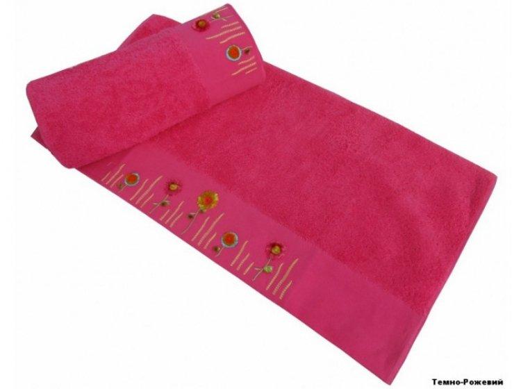 Полотенце махровое Altinbasak. Spring темно-розового цвета