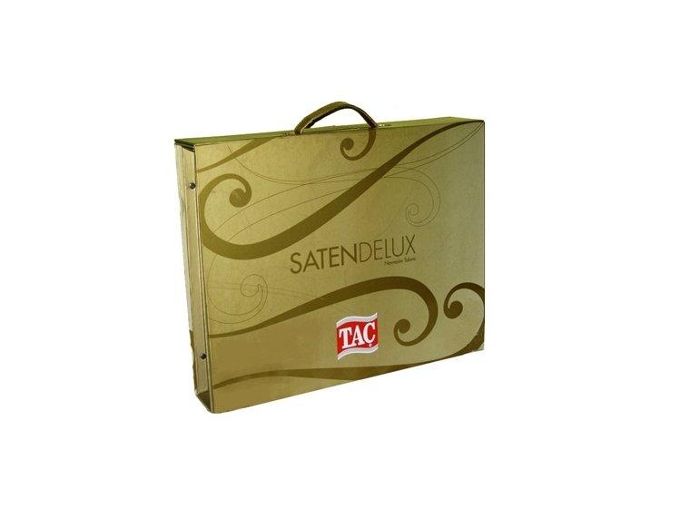 Постельное белье TAC, Mikela синий, сатин De-Luxe упаковка