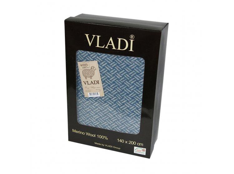 Плед Vladi. Шарм Light, голубой  упаковка