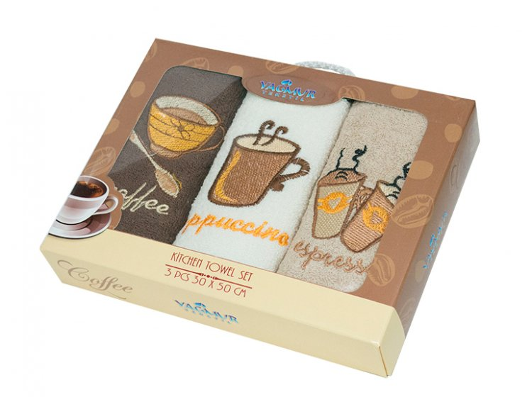 Набор салфеток для кухни Yagmur. Coffee 30х50 см, 3 предмета