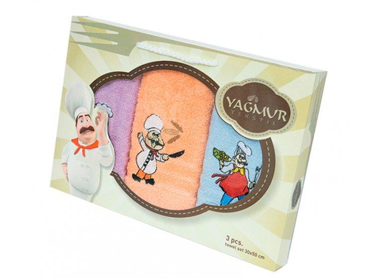 Набор салфеток для кухни Yagmur. Повар 2 30х50 см, 3 предмета упаковка