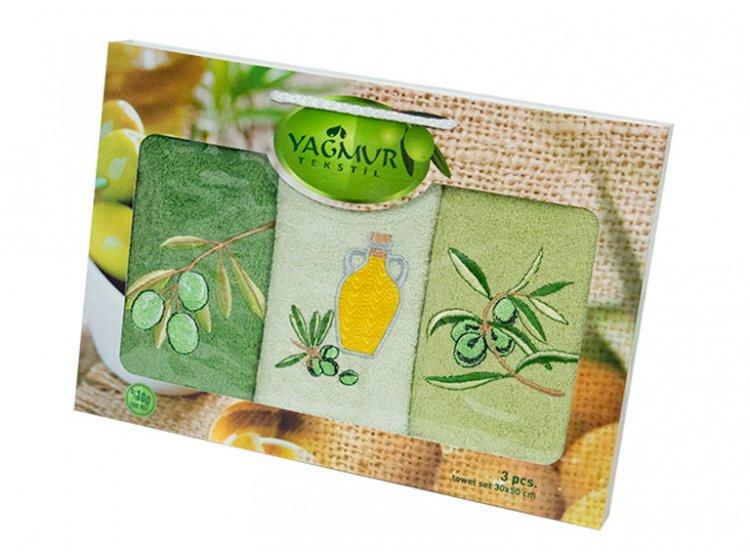 Набор салфеток для кухни Yagmur. Olive 1 30х50 см, 3 предмета