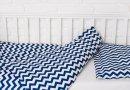 Постельное белье в детскую кроватку Elfdreams. Синяя волна