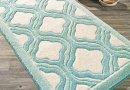 Коврик для ванной Confetti. Tiffany turkuaz, прорезиненный 57х100 см