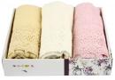 Набор салфеток для кухни Izzihome. S.L. LACE 30х50 см, 3 предмета  кремовый, темно-розовый, бежевый