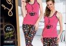 Пижама с бриджами и шортами Lady Lingerie. 7127