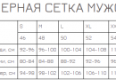 Футболка EGO. MTS_Приталеная_95%_WH белая размерная сетка