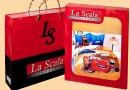 """Детское постельное белье La Scala. КI-052 """"Новогодние тачки"""" упаковка"""