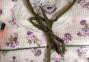 Халат женский вафельный Прованс фиолетового цвета