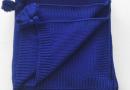 Плед вязанный SoundSleep. Olvia темно-синий
