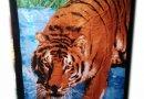 Полотенце пляжное  Shamrock. Тигр, размер  75х150